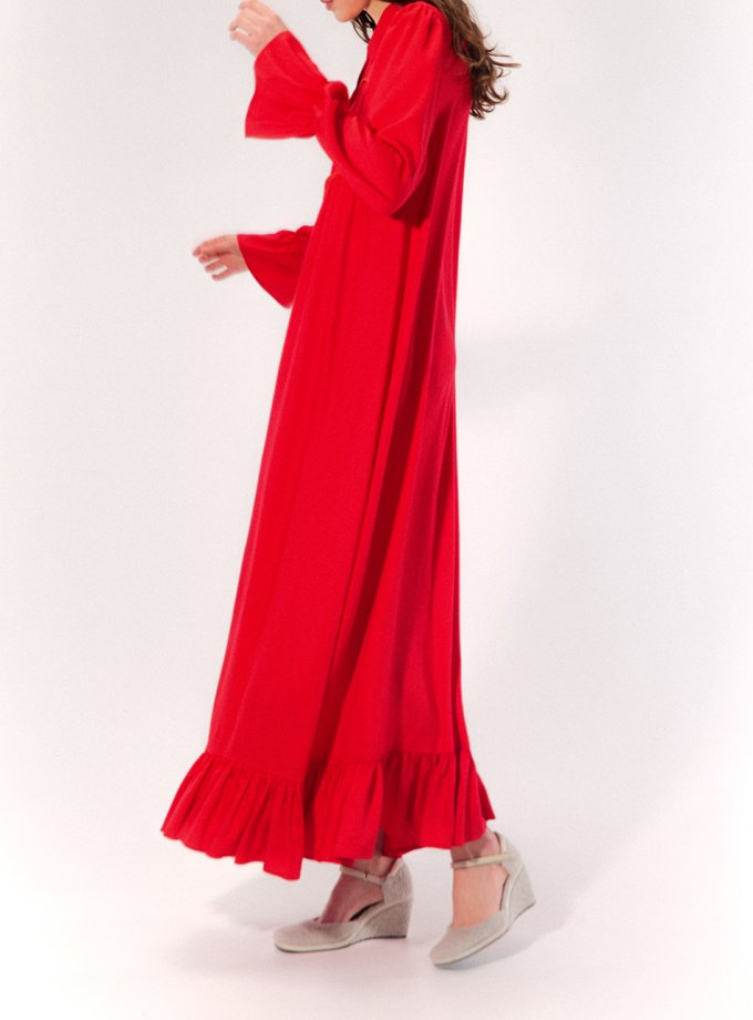 Платье макси с рюшами MRCH_CHR_04_red, фото 1 - в интеренет магазине KAPSULA