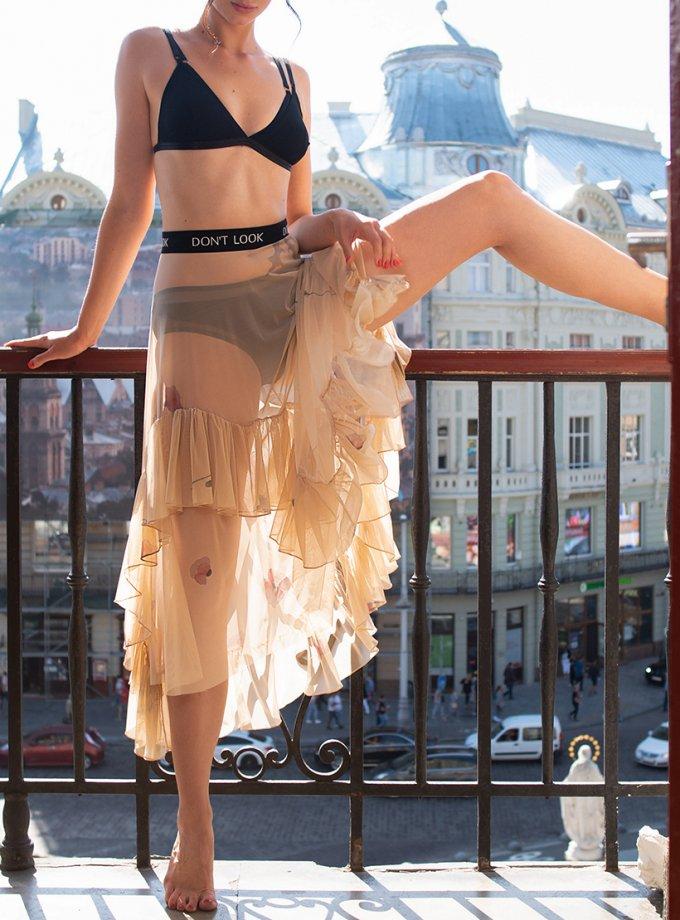 Полупрозрачная юбка Floral touch DONT_М1707, фото 1 - в интернет магазине KAPSULA