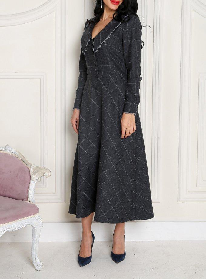 Платье в клетку из шерсти VONA_FW-20_21-58, фото 1 - в интернет магазине KAPSULA