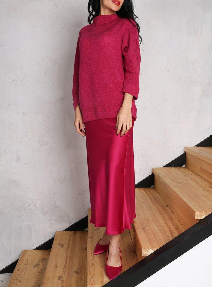 Сатиновая юбка миди VONA_FW-20_21-59, фото 1 - в интеренет магазине KAPSULA