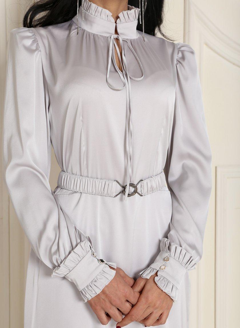 Платье миди с поясом VONA_FW-20_21-61, фото 1 - в интеренет магазине KAPSULA