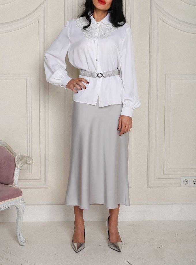 Сатиновая юбка миди VONA_FW-20_21-62, фото 1 - в интернет магазине KAPSULA