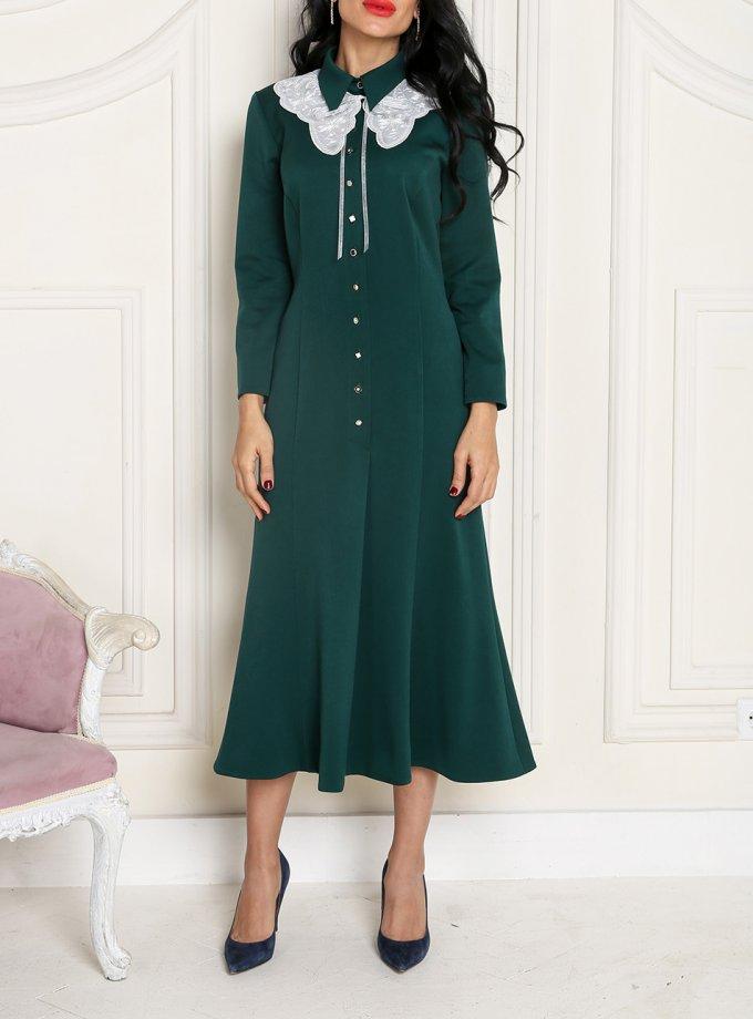 Платье со съемным воротником VONA_FW-20_21-63, фото 1 - в интеренет магазине KAPSULA