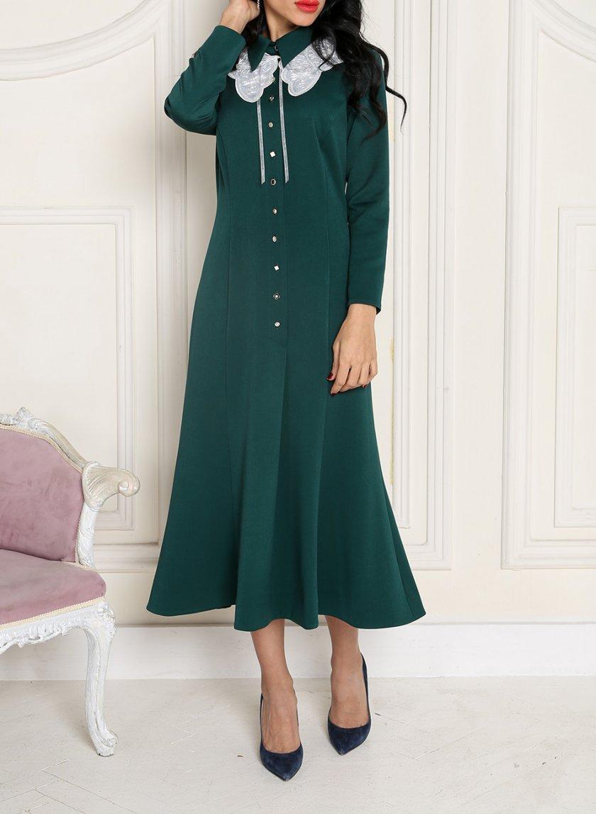 Платье со съемным воротником VONA_FW-20_21-63, фото 1 - в интернет магазине KAPSULA
