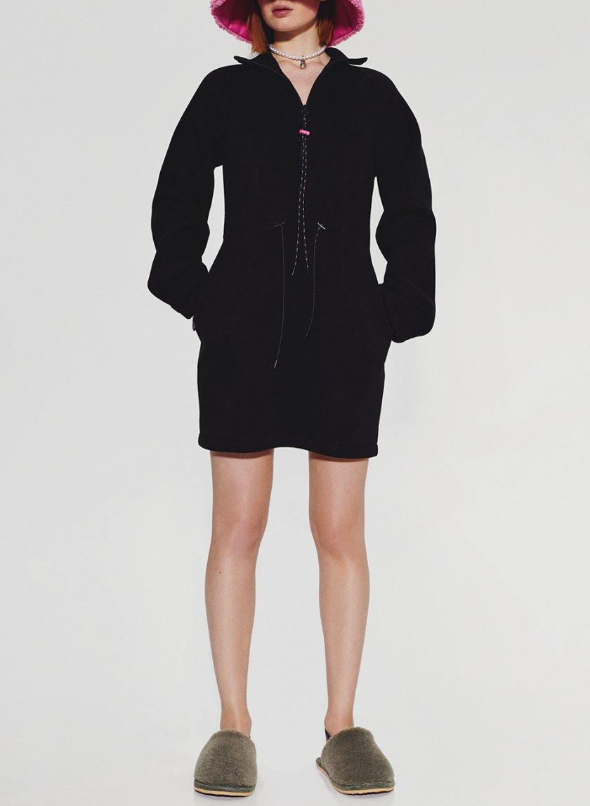 Хлопковое платье на молнии SAYYA_FW1093-2, фото 1 - в интернет магазине KAPSULA