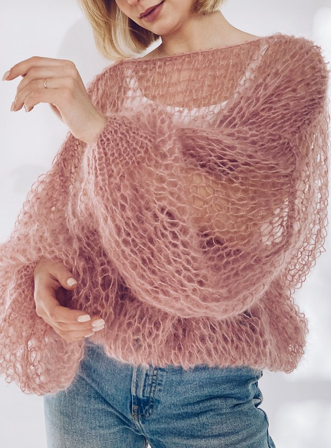 Объемный свитер из мохера WN_AIM19, фото 1 - в интернет магазине KAPSULA