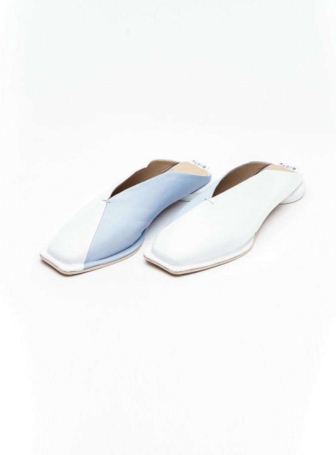 Двухцветные сабо из кожи IRLT_SB_SS21_01, фото 1 - в интеренет магазине KAPSULA