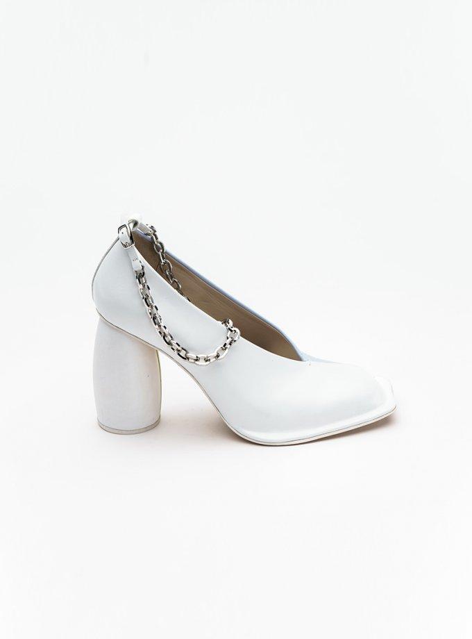 Двухцветные туфли из кожи IRLT_SHS_SS21_02, фото 1 - в интеренет магазине KAPSULA