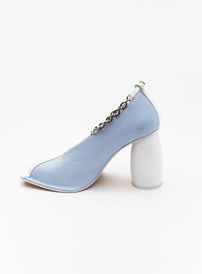 Двухцветные туфли из кожи IRLT_SHS_SS21_02, фото 1 - в интернет магазине KAPSULA