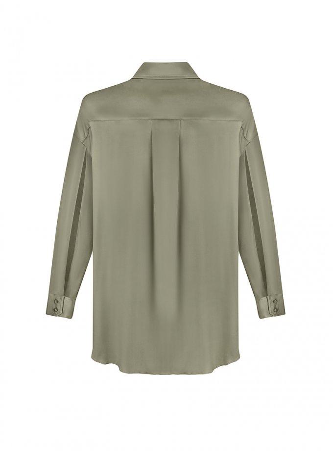 Шелковая рубашка с разрезами IR_FW20_SG_031, фото 1 - в интеренет магазине KAPSULA