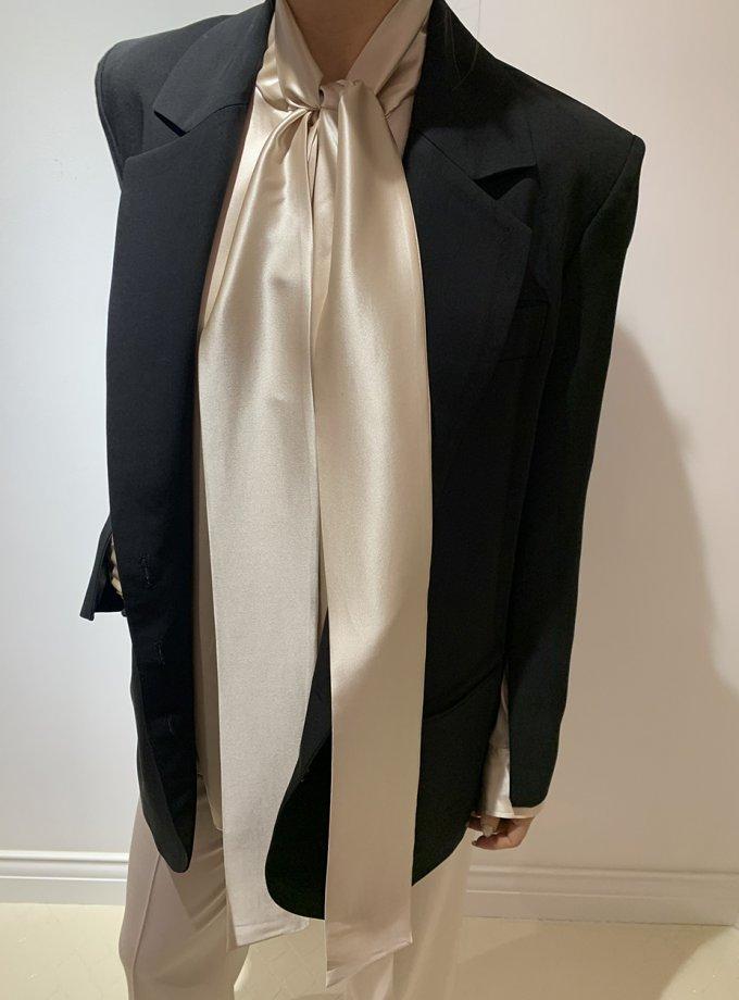 Шелковая блуза с лентами IR_FW20_SM_032, фото 1 - в интеренет магазине KAPSULA