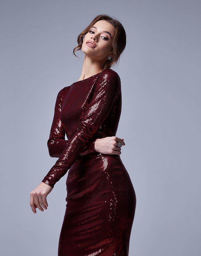 Силуэтное платье с пайетками MC_MY12229, фото 1 - в интеренет магазине KAPSULA
