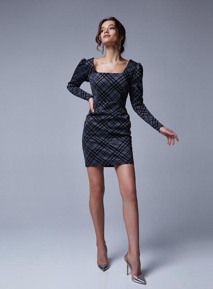 Платье с бархатными полосками Graff MC_MY2030, фото 1 - в интеренет магазине KAPSULA