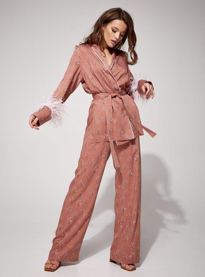 Костюм в пижамном стиле Reina MC_MY4221-1, фото 1 - в интеренет магазине KAPSULA