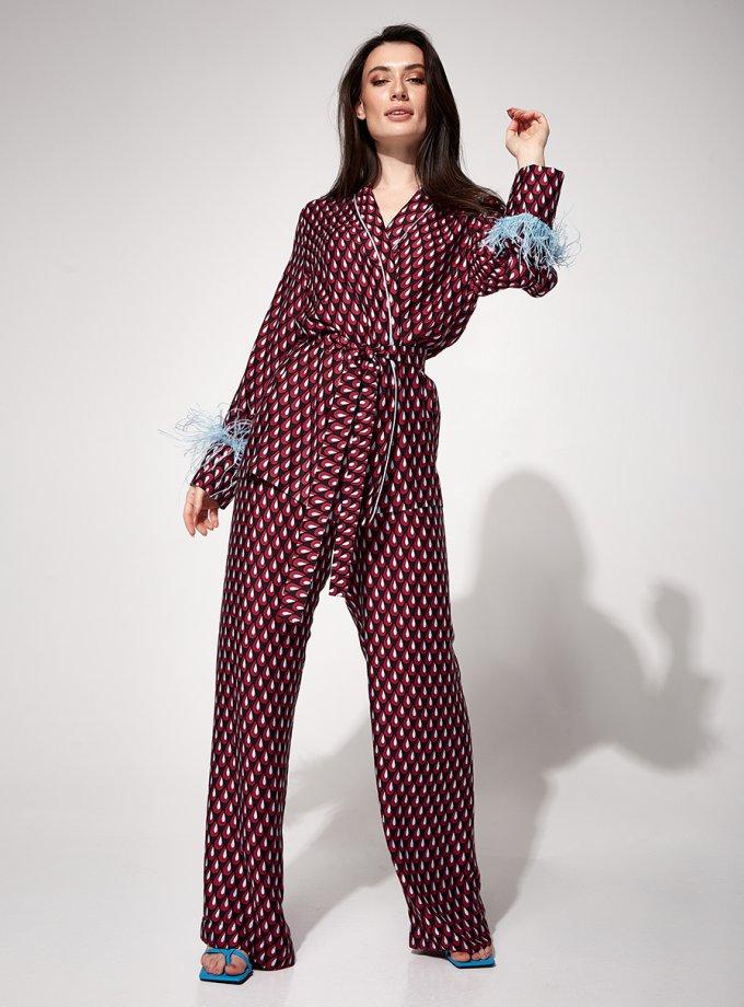 Костюм в пижамном стиле Reina MC_MY4221-2, фото 1 - в интеренет магазине KAPSULA