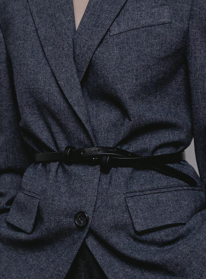 Тонкий ремень из кожи SHKO_18005001, фото 1 - в интеренет магазине KAPSULA
