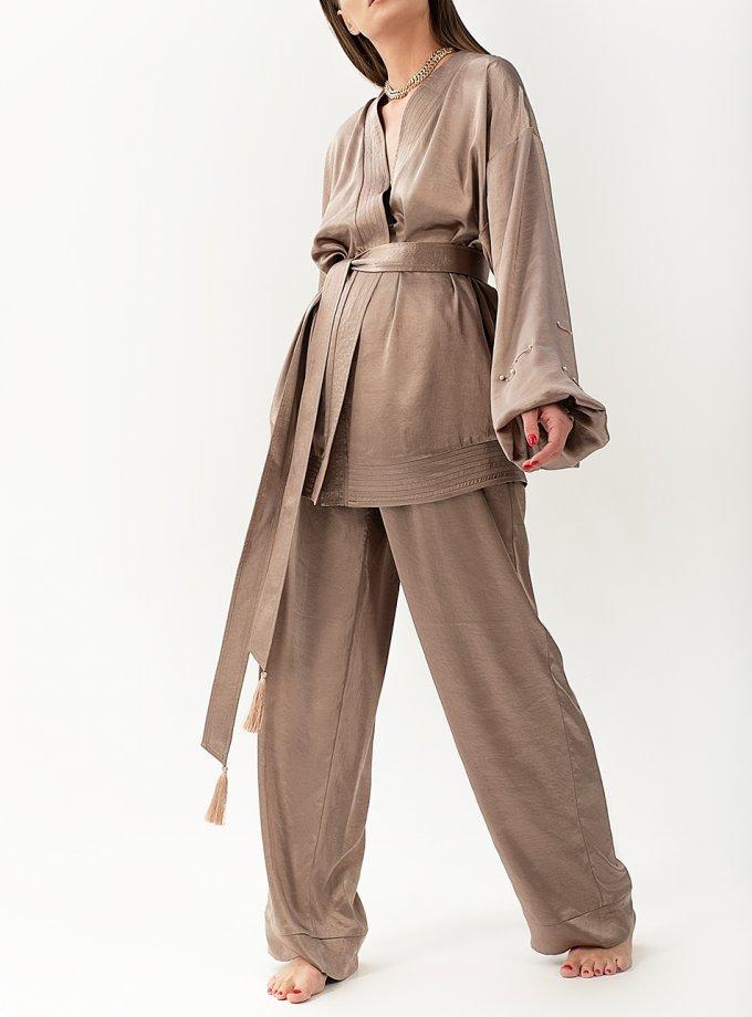 Струящийся костюм из сатина WNDR_resort_2sc_01, фото 1 - в интеренет магазине KAPSULA
