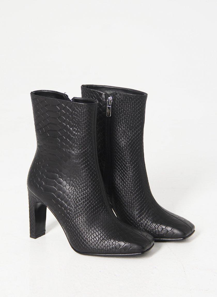 Кожаные ботинки на каблуке NZR_Liza-black, фото 1 - в интеренет магазине KAPSULA