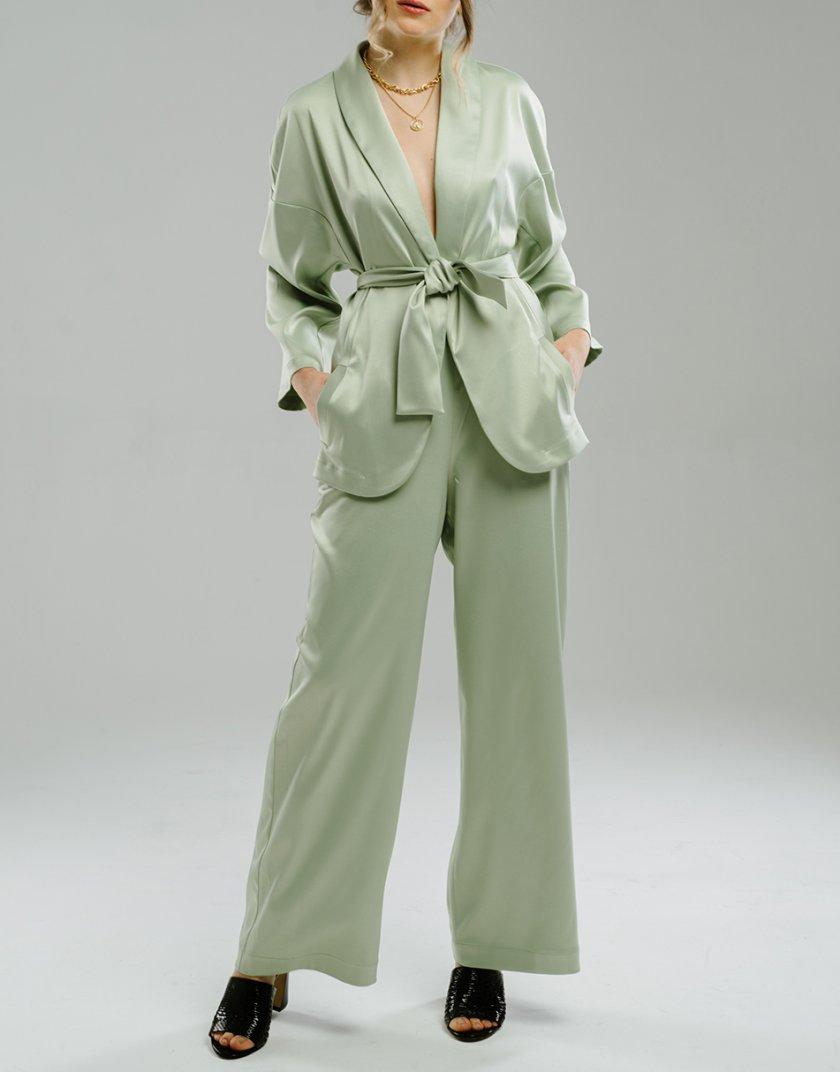 Широкие брюки на резинке MNTK_MTF2046, фото 1 - в интернет магазине KAPSULA