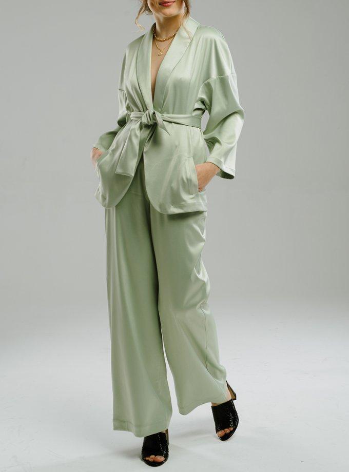 Широкие брюки на резинке MNTK_MTF2046, фото 1 - в интеренет магазине KAPSULA