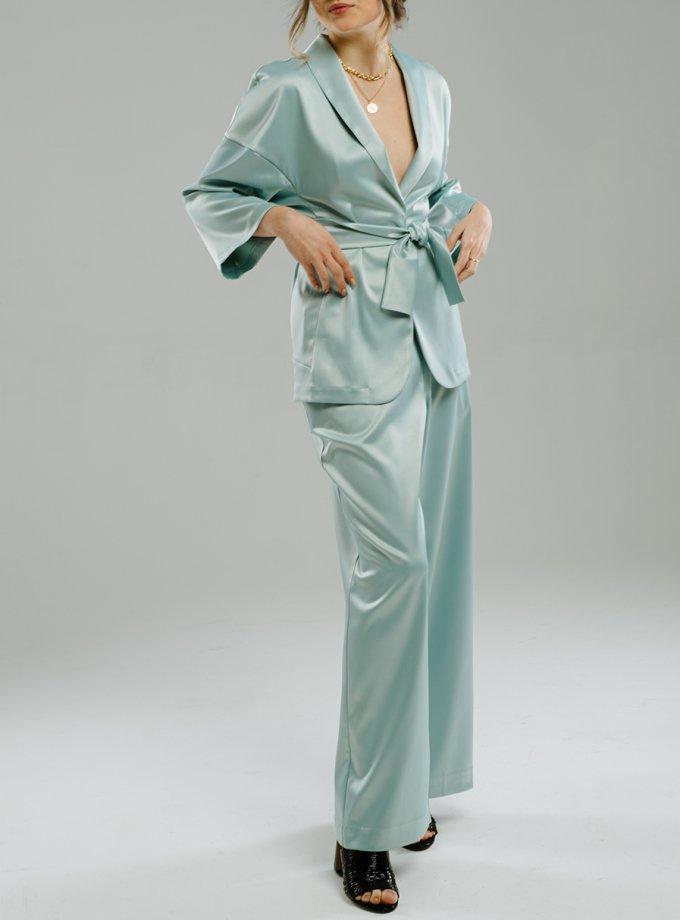 Широкие брюки на резинке MNTK_MTF2047, фото 1 - в интеренет магазине KAPSULA