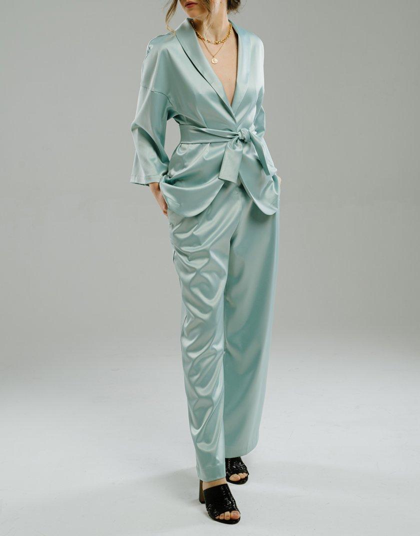 Широкие брюки на резинке MNTK_MTF2047, фото 1 - в интернет магазине KAPSULA