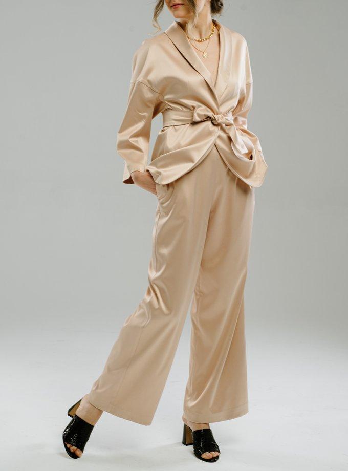 Широкие брюки на резинке MNTK_MTF2048, фото 1 - в интернет магазине KAPSULA