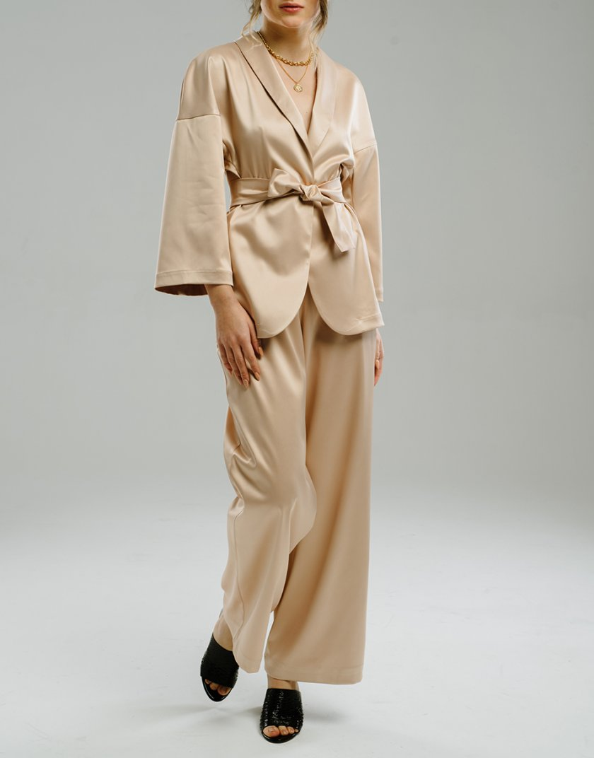 Широкие брюки на резинке MNTK_MTF2048, фото 1 - в интеренет магазине KAPSULA