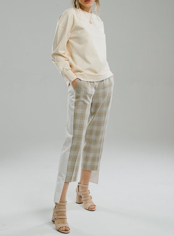 Укороченные брюки с лампасами MNTK_MTS20TR4, фото 1 - в интернет магазине KAPSULA