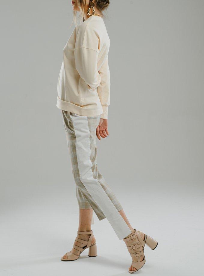 Укороченные брюки с лампасами MNTK_MTS20TR4, фото 1 - в интеренет магазине KAPSULA