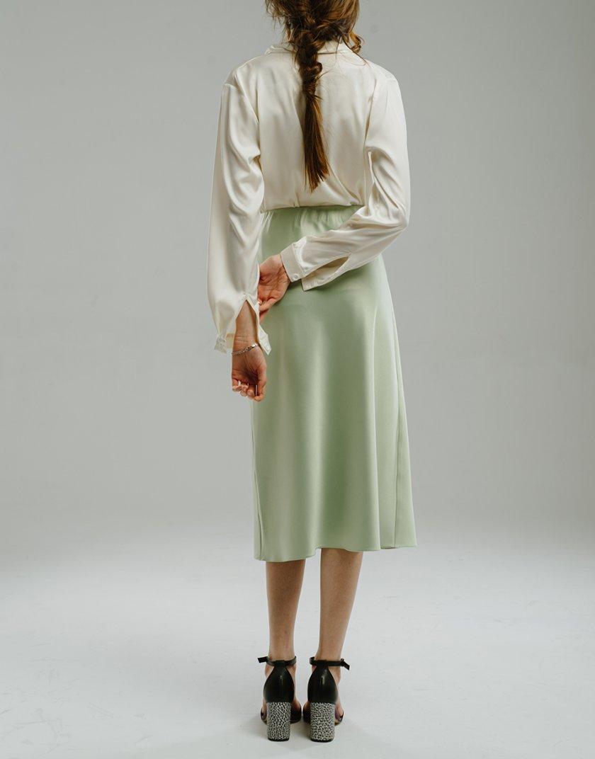 Сатиновая юбка миди MNTK_MTS2101, фото 1 - в интернет магазине KAPSULA
