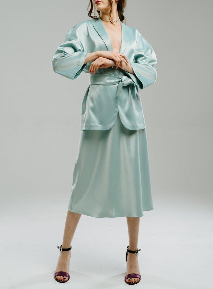 Сатиновая юбка миди MNTK_MTS2102, фото 1 - в интернет магазине KAPSULA