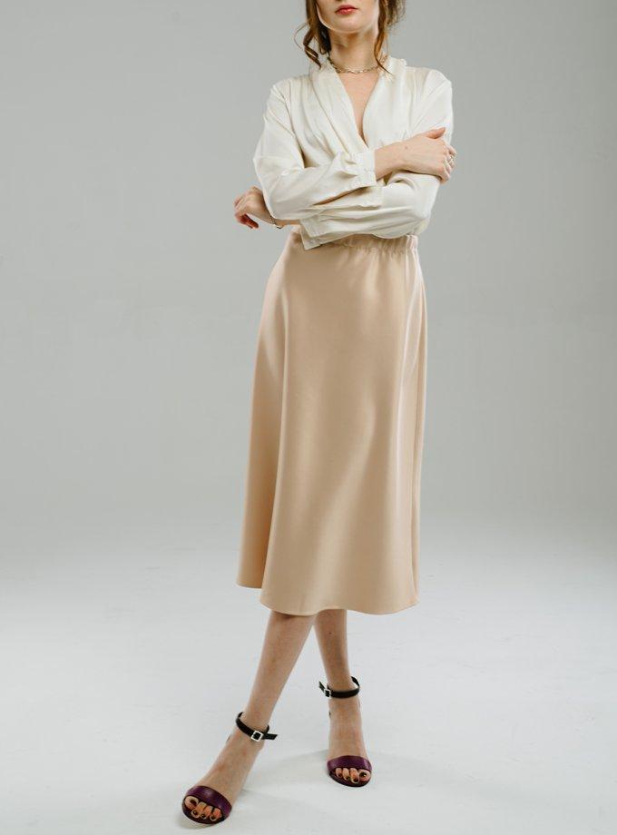 Сатиновая юбка миди MNTK_MTS2103, фото 1 - в интернет магазине KAPSULA