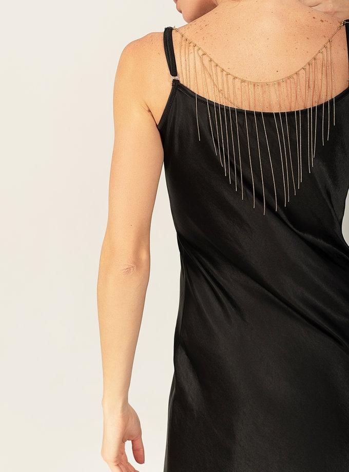 Платье cо съемным декором на спине WNDR_fw2021_sdrb_15, фото 1 - в интеренет магазине KAPSULA