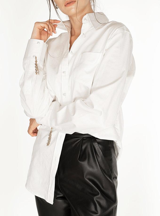 Хлопковая рубашка с запонками-цепями WNDR_fw2021_shw_18, фото 1 - в интернет магазине KAPSULA