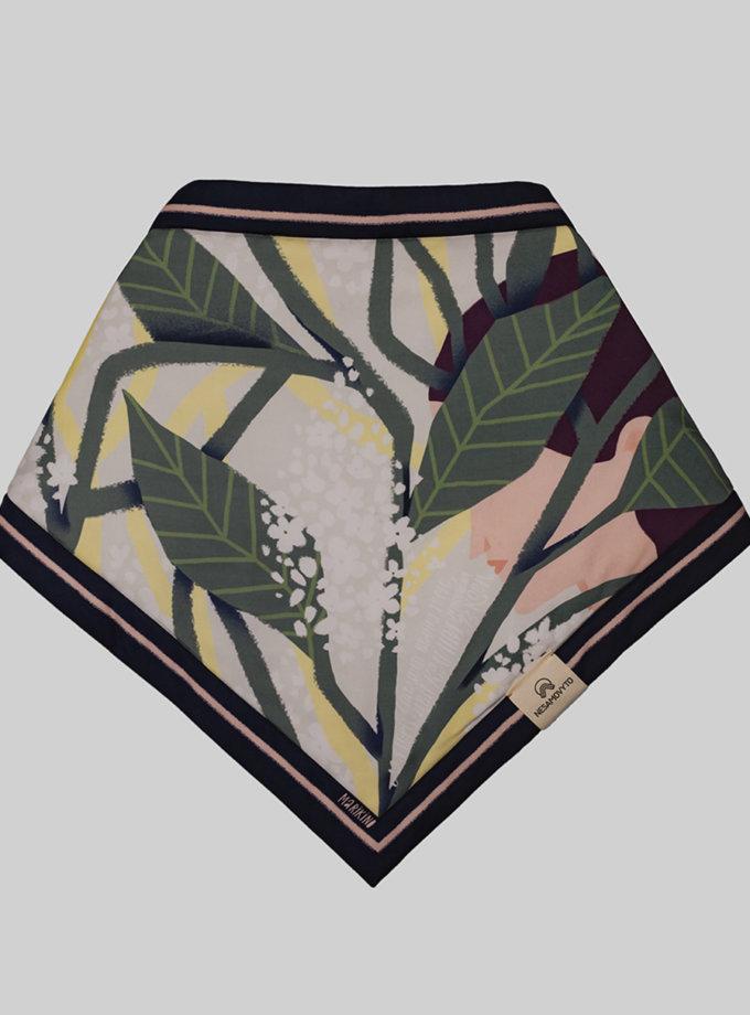 Утепленный платок Черемшина NST_С1, фото 1 - в интернет магазине KAPSULA