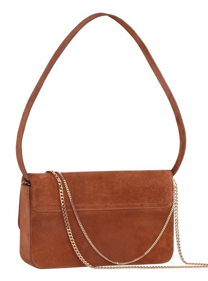 Замшевая сумка с цепями irAro x Vikele Studio IRRO_IR_SS20_LB_brown, фото 1 - в интернет магазине KAPSULA