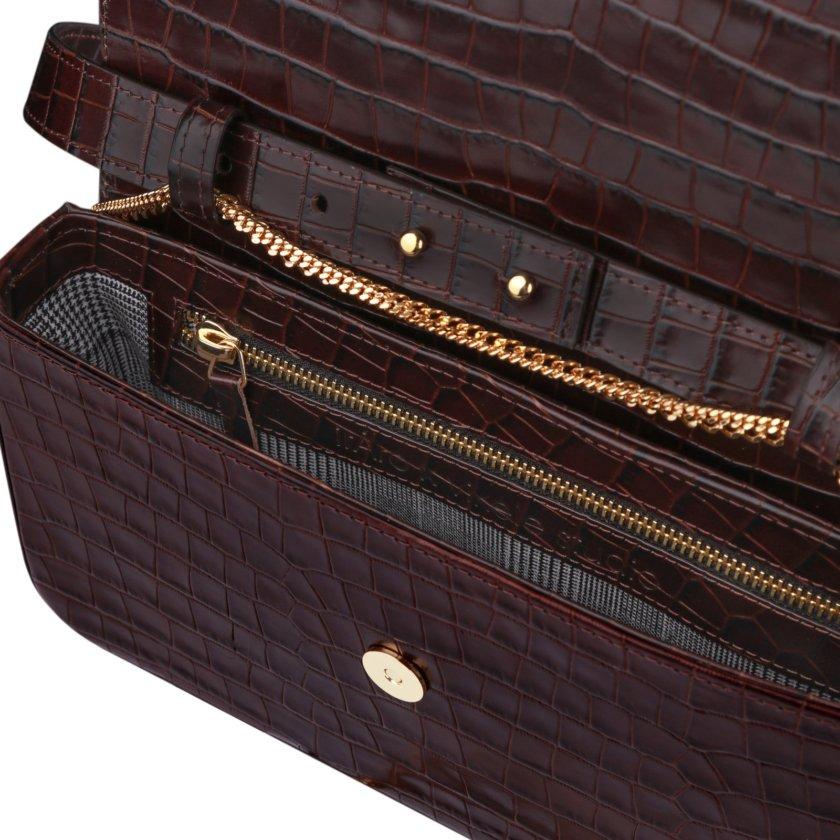 Кожаная сумка с тиснением irAro x Vikele Studio IRRO_IR_SS20_LB_croco-bordo, фото 1 - в интернет магазине KAPSULA