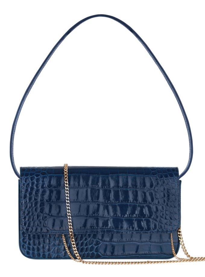 Кожаная сумка с тиснением IRRO_IR_SS20_LB_croco-blue, фото 1 - в интеренет магазине KAPSULA