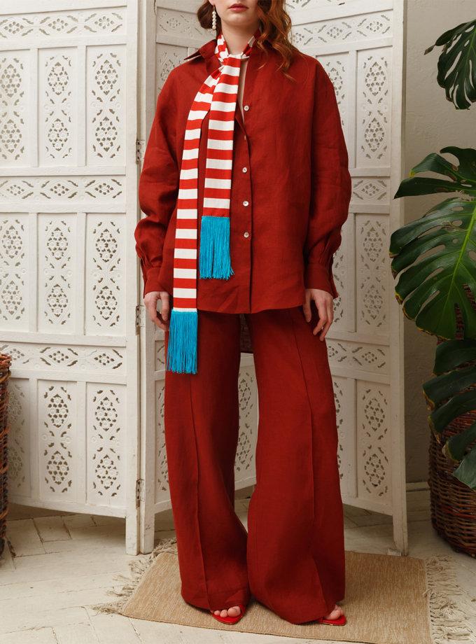 Шарф з бахромою VONA_SS-21-32, фото 1 - в интернет магазине KAPSULA