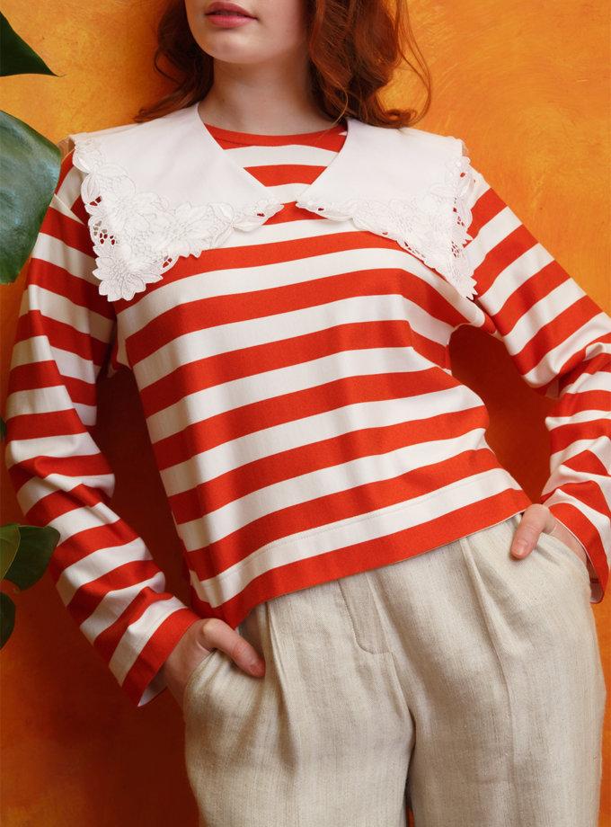 Воротник с кружевом VONA_SS-21-33, фото 1 - в интернет магазине KAPSULA
