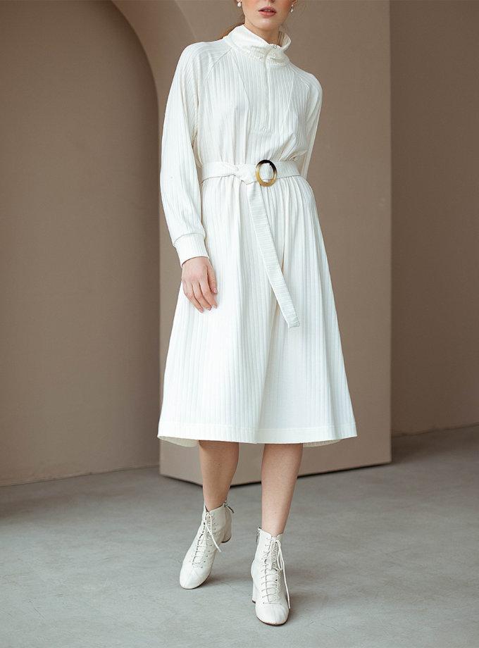 Платье из хлопка с поясом AY_3112, фото 1 - в интернет магазине KAPSULA