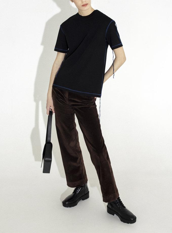 Велюрові брюки прямого крою IR_WD_PV_004, фото 1 - в интернет магазине KAPSULA