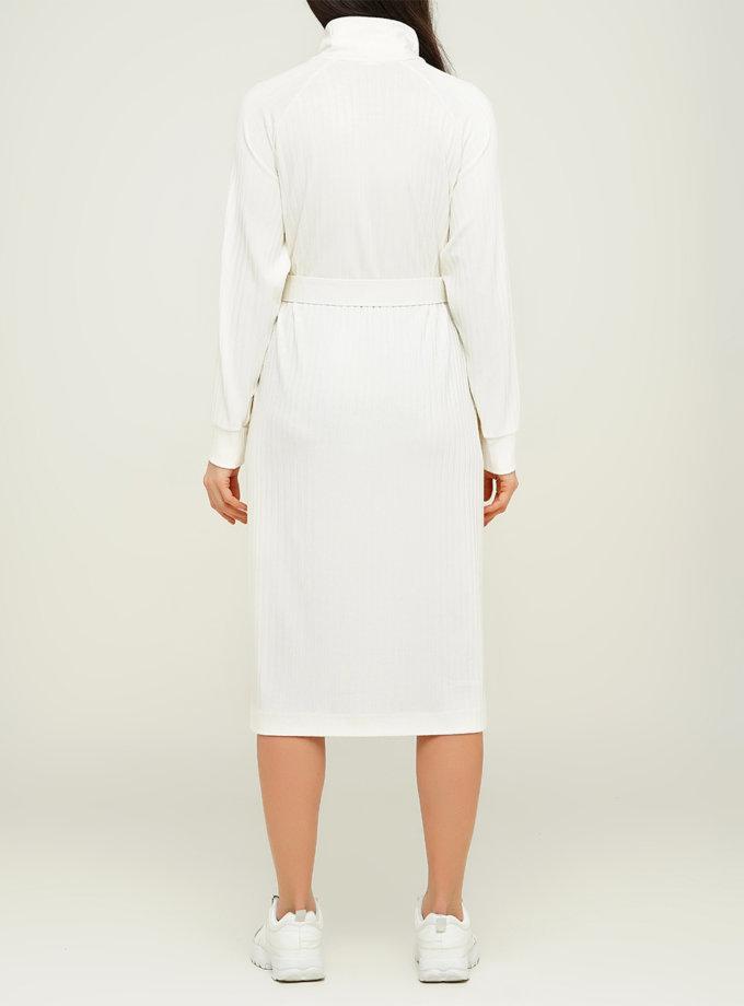 Платье из хлопка с поясом AY_3112, фото 1 - в интеренет магазине KAPSULA