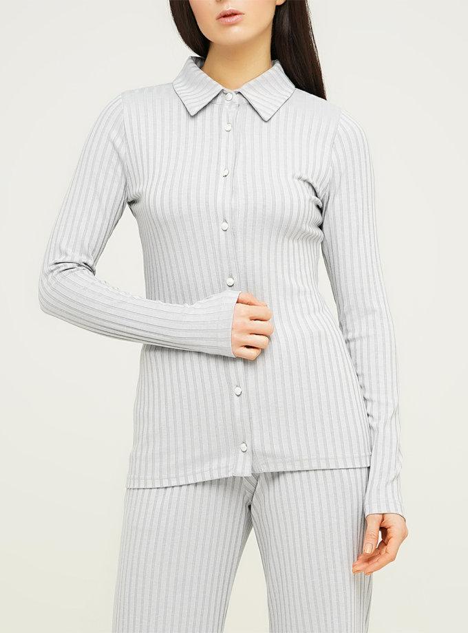 Приталенная рубашка из хлопка AY_3121, фото 1 - в интеренет магазине KAPSULA