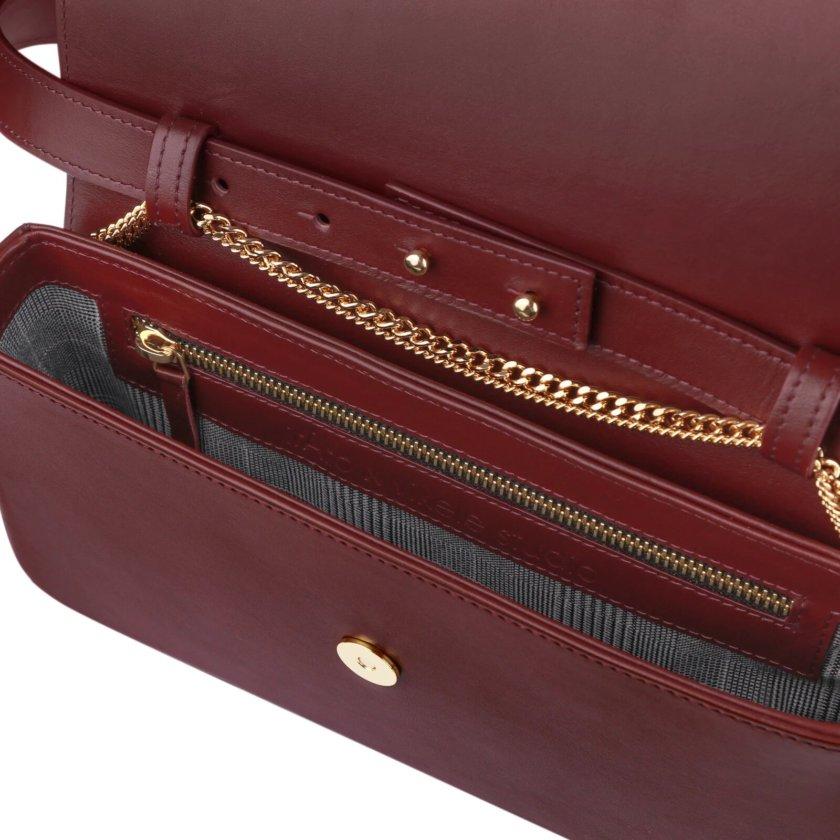 Кожаная сумка irAro x Vikele Studio IRRO_IR_SS20_BO_ burgundy, фото 1 - в интернет магазине KAPSULA