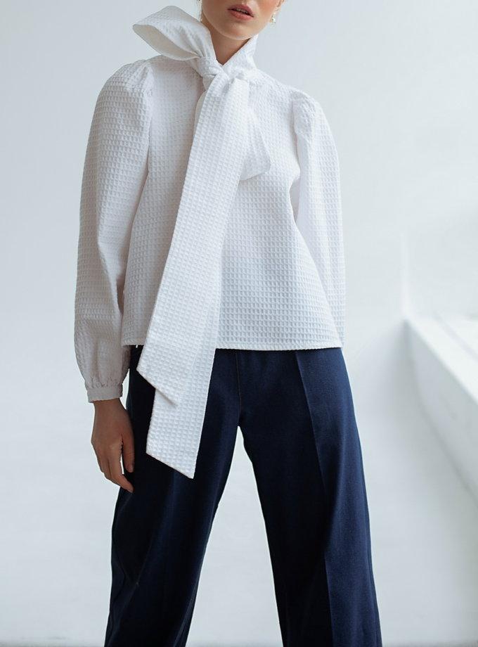 Хлопковая блуза с рукавом фонарик AY_3128, фото 1 - в интеренет магазине KAPSULA