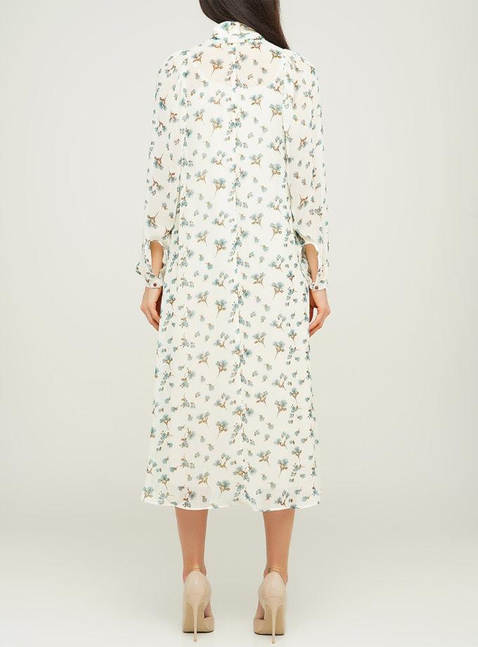 Платье миди с длинными рукавами AY_3109, фото 1 - в интернет магазине KAPSULA
