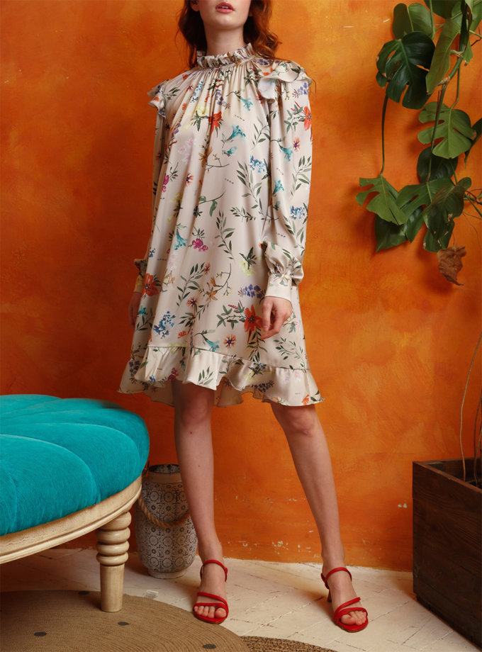 Платье мини объемного силуэта VONA_SS-21-15, фото 1 - в интернет магазине KAPSULA