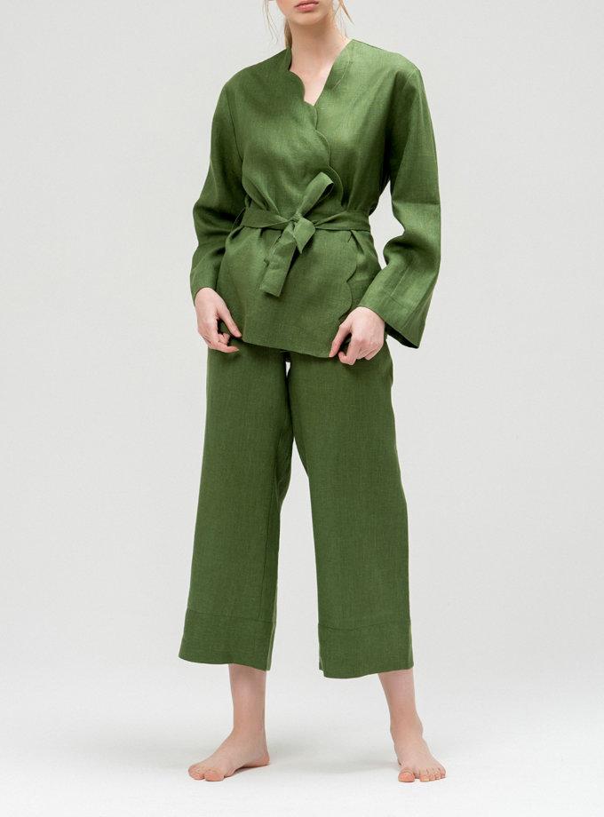 Льняной костюм с кюлотами BLCGR_BLCN_427, фото 1 - в интеренет магазине KAPSULA